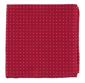 Apple Red Rivington Dots pocket square