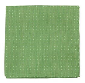 Apple Green Rivington Dots pocket square