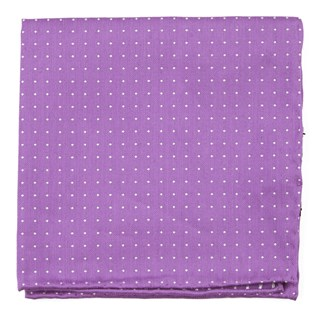 Rivington Dots Wisteria Pocket Square