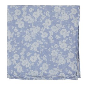 Light Blue Linen Buds pocket square