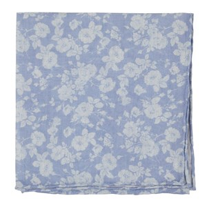 linen buds light blue pocket square