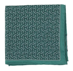 Green Floral Mark pocket square