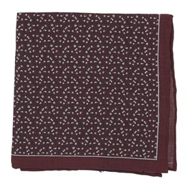 Floral Mark Burgundy pocket square