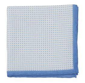Light Blue Domino Dots pocket square