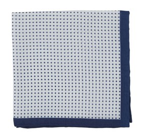 Navy Domino Dots pocket square