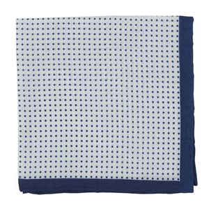 domino dots navy pocket square