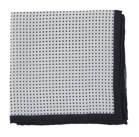 Black Domino Dots pocket square