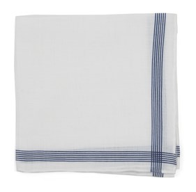 Old Town Border Navy pocket square