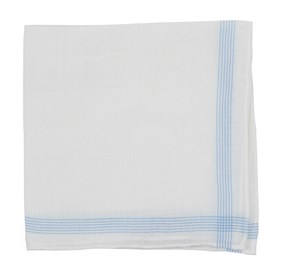 Old Town Border Light Blue pocket square