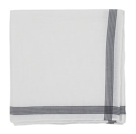 Old Town Border Black pocket square