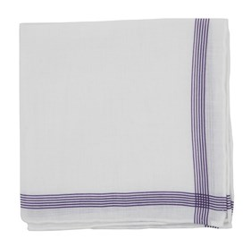 Purple Old Town Border pocket square