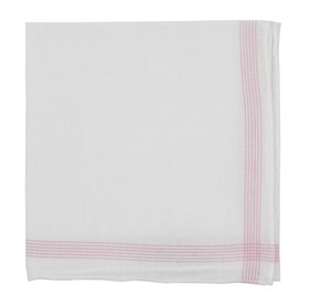 Pink Old Town Border pocket square