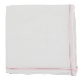 Pink Binary Border pocket square