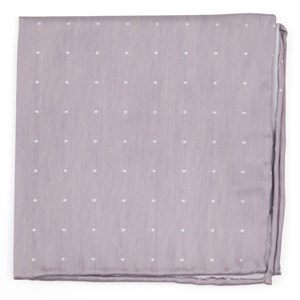 bulletin dot mauve stone pocket square