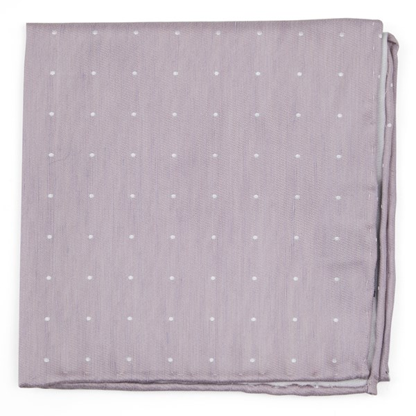 Mauve Stone Bulletin Dot Pocket Square
