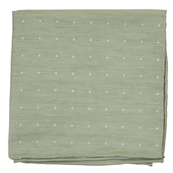 Sage Green Bulletin Dot Pocket Square