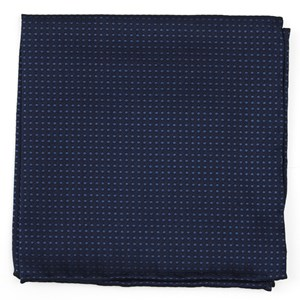 dotted spin navy pocket square