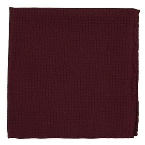 dotted spin burgundy pocket square