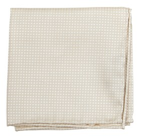 Light Champagne Dotted Spin pocket square