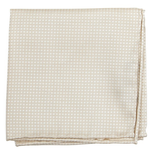 Dotted Spin Light Champagne Pocket Square