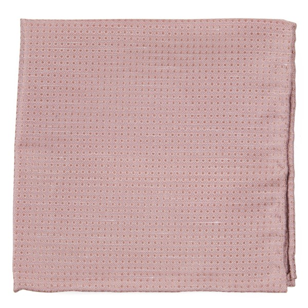 Blush Pink Dotted Spin Pocket Square