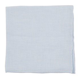 Light Blue Summertide Tooth pocket square