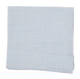 Light Blue Revolution Checks pocket square