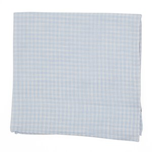 revolution checks light blue pocket square
