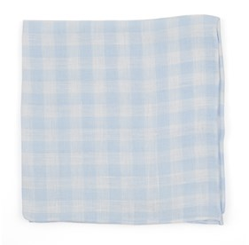 Light Blue Saint Lou Checks pocket square