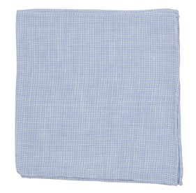 Dusty Blue Summertide Tooth pocket square