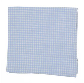 Dusty Blue Revolution Checks pocket square