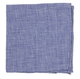 Navy Summertide Tooth pocket square