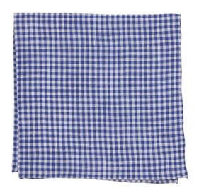 Navy Revolution Checks pocket square