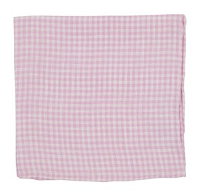 Pink Revolution Checks pocket square