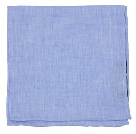 Light Blue South End Solid pocket square