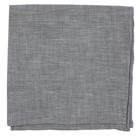 Grey SOUTH END SOLID pocket square