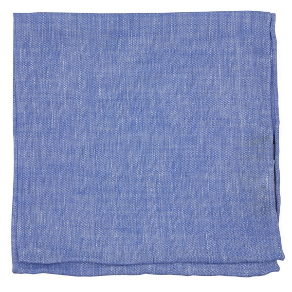 Periwinkle South End Solid Pocket Square