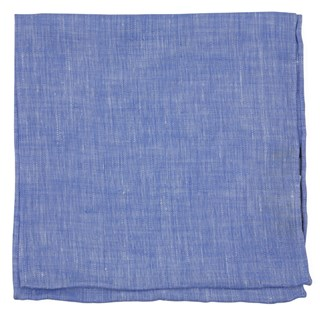 South End Solid Periwinkle Pocket Square