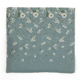 Sage Green Meyer Flowers pocket square
