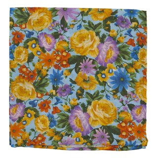 duke floral light blue pocket square