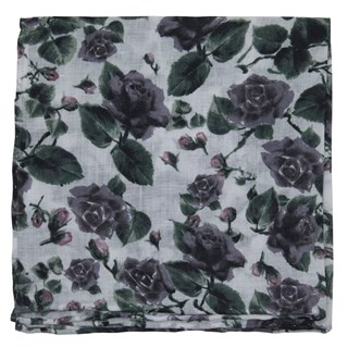 mumu weddings - floral falls purple pocket square