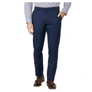 stretch cotton classic navy pants