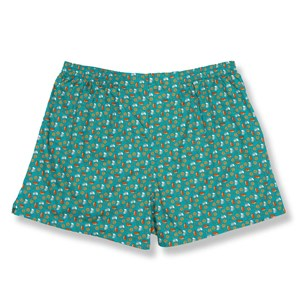 beers and pretzels teal boxer