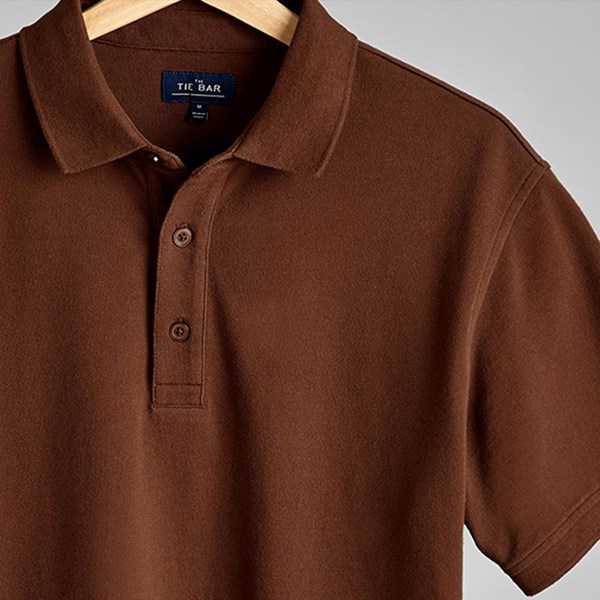 Brown Pique Polo
