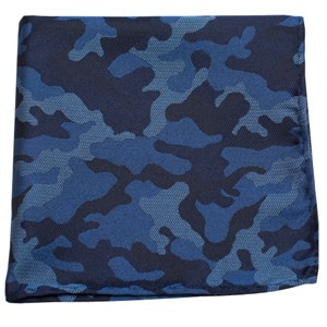 camo blue pocket square
