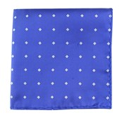 Pocket Squares - CHECKS & BALANCE - PERIWINKLE