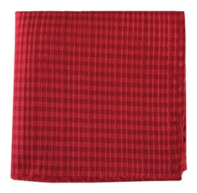 Red Silk Seersucker Solid pocket square
