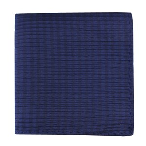 silk seersucker solid navy pocket square