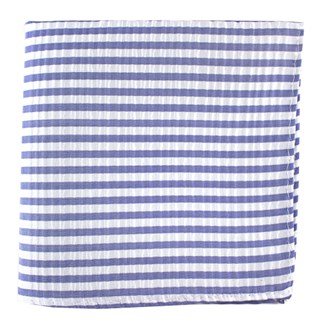 silk seersucker stripe periwinkle pocket square