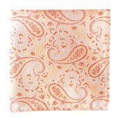 Pocket Squares - WALTZING PAISLEY - PEACH